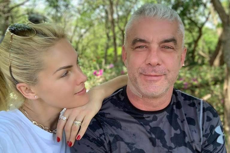 Ana Hickmann e o marido Alexandre Correa
