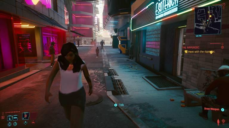 Confira imagens e bugs do jogo Cyberpunk 2077