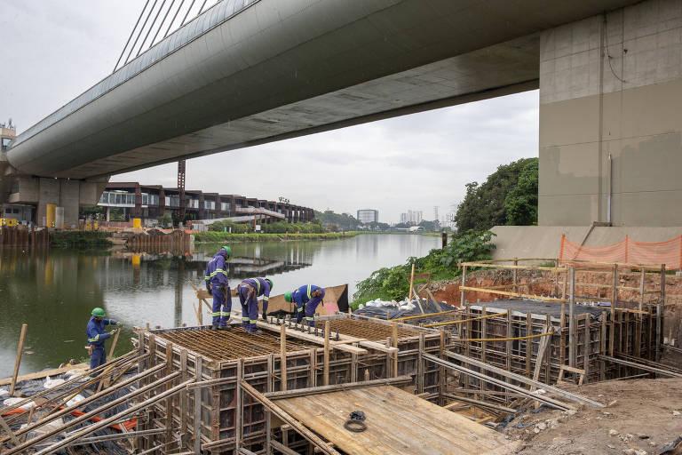 Obra do metrô de SP terá passarela de 200 metros sobre o rio Pinheiros