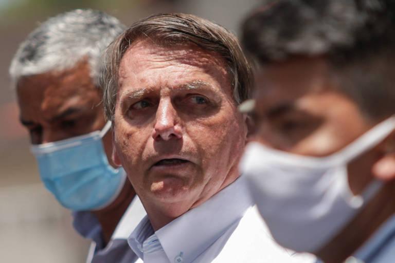 O presidente brasileiro, Jair Bolsonaro, após votar no segundo turno das eleições municipais, no Rio de Janeiro