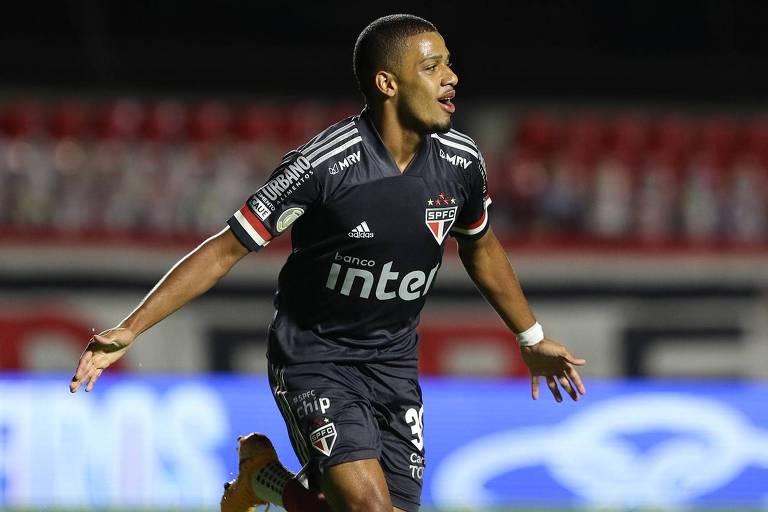 Sem Luciano, machucado, o atacante Brenner é a esperança do São Paulo contra o Atlético-MG