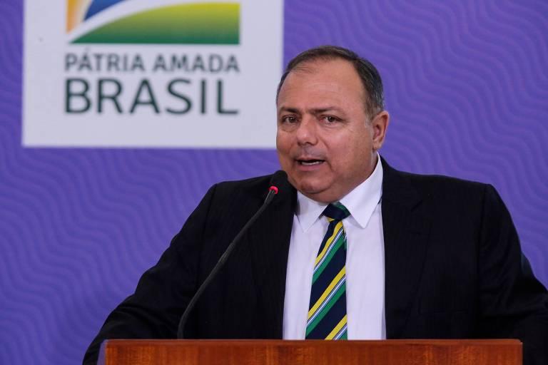 O ministro da Saúde Eduardo Pazuello, durante lançamento do Plano Nacional de Operacionalização da Vacinação contra a Covid-19