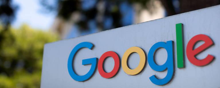 Logo do Google em um dos complexos de escritórios da empresa em Irvine, Califórnia, nos EUA
