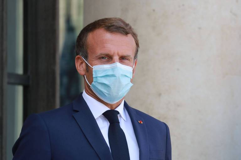 Emmanuel Macron, presidente da França, recebe diagnóstico de Covid-19