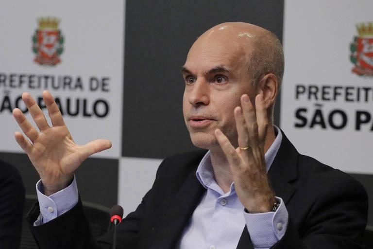 o prefeito da cidade de Buenos Aires, Horacio Larreta