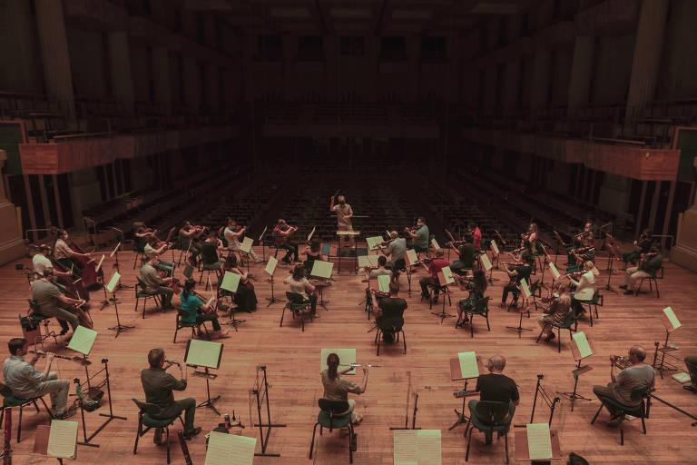 Orquestra vista do alto