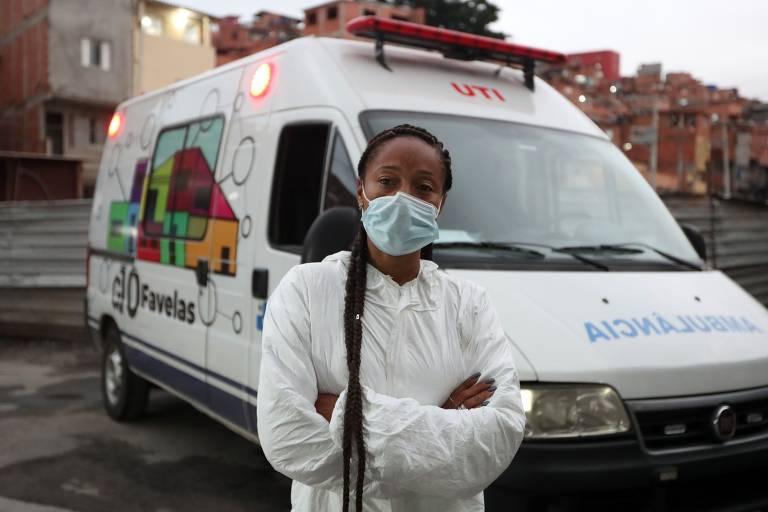 Renata Alves, coordenadora das ambulâncias, fazia a ponte entre moradores e profissionais de saúde em Paraisópolis