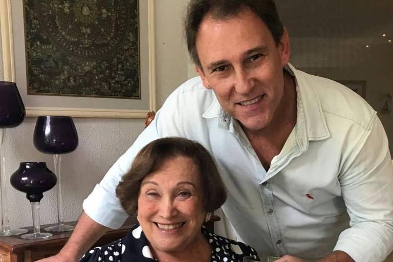 Paulo Goulart Filho com a mãe, Nicette Bruno