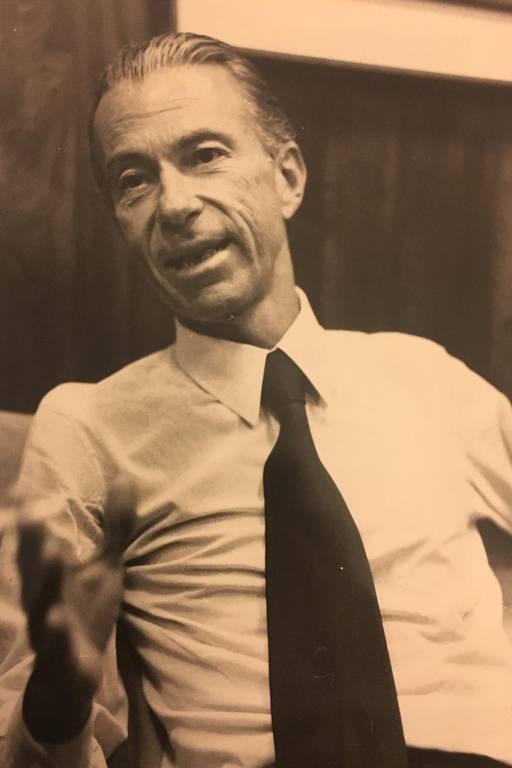 O banqueiro José Luiz de Magalhães Lins em imagem dos anos 1970