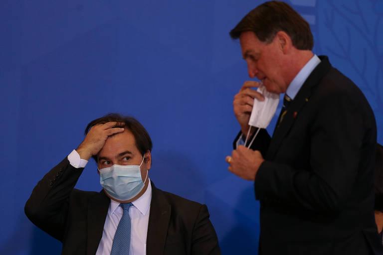 Maia sobe tom contra Bolsonaro, mas deve deixar pedidos de impeachment na gaveta para Baleia ou Lira