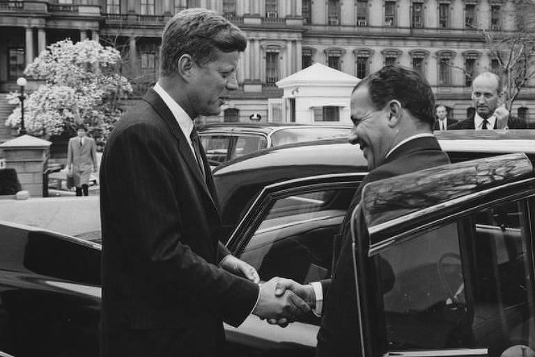 Presidentes John F. Kennedy e João Goulart, nos EUA, em 1962