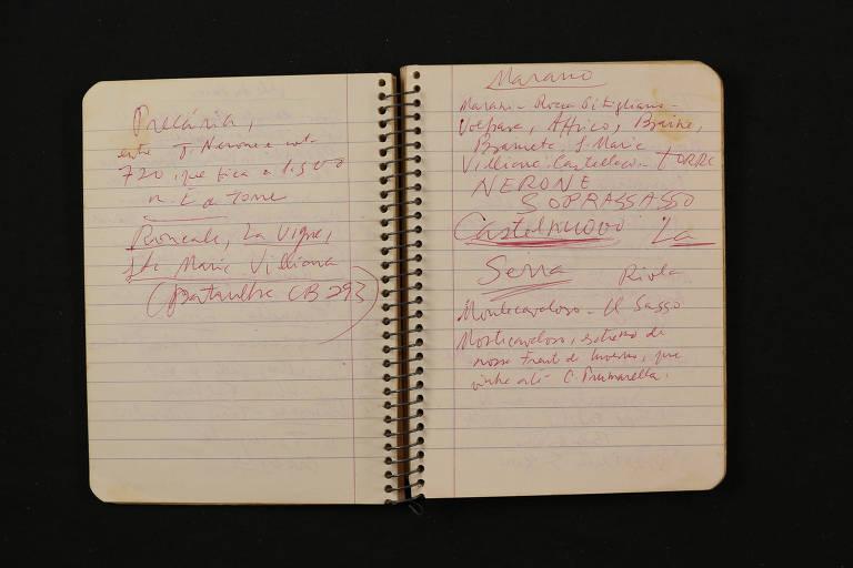 Cadernos do escritor Rubem Braga guardado na Fundação Casa de Rui Barbosa