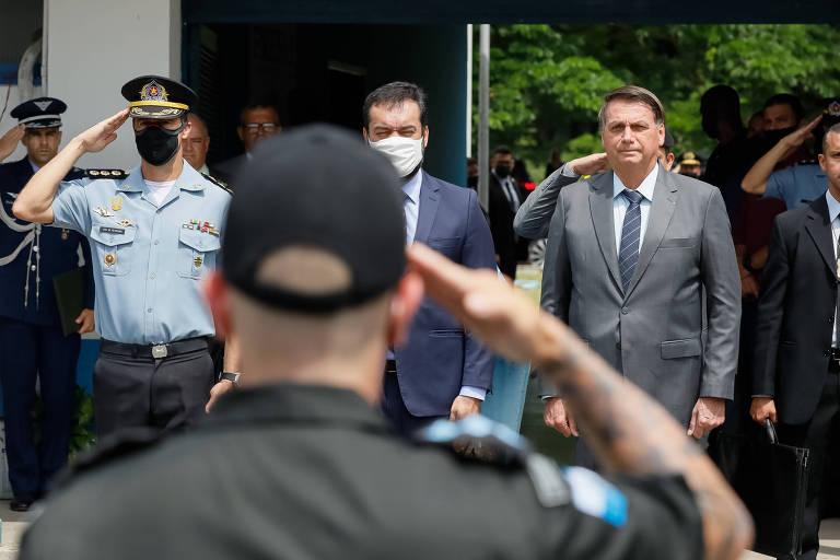 Jair Bolsonaro durante cerimônia de formatura de policiais militares no Rio de Janeiro, em 18 de dezembro de 2020