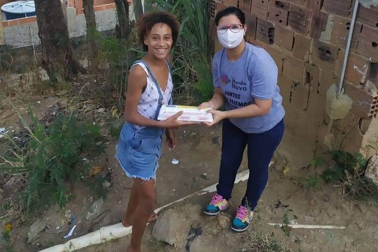 Bianca Simãozinho fez do já consolidado Instituto Mundo Novo uma referência em ajuda humanitária na localidade durante a pandemia