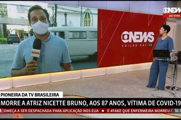 Pedro Neville, da GloboNews, se emociona ao relembrar morte da mãe por Covid-19