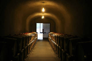 The wine cave at Quintessa, a winery, in St. Helena, Calif., Dec. 16, 2020. (Jim Wilson/The New York Times)