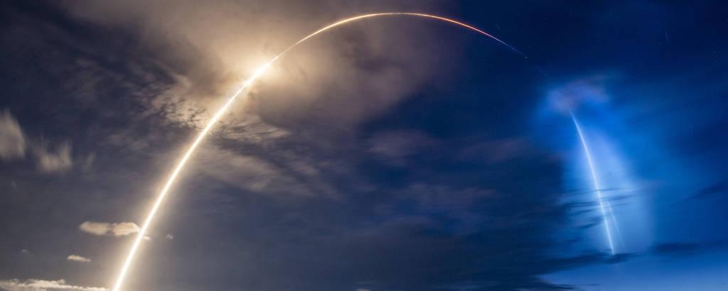 Starlink Mission, da SpaceX, em junho de 2020