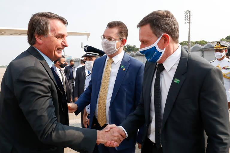 Jair Bolsonaro e Marcelo Crivella