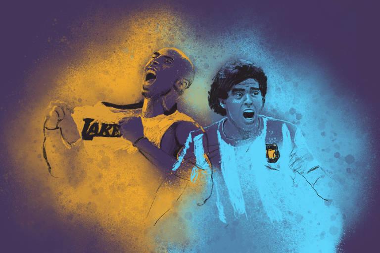 Kobe e Maradona deixam lágrimas e legado de genialidade em ano de despedidas