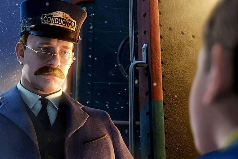 Tom Hanks em cena de 'O Expresso Polar' (2004), de Robert Zemeckis