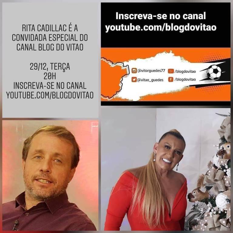 Coluna Caneladas do Vitão, live com Rita Cadillac