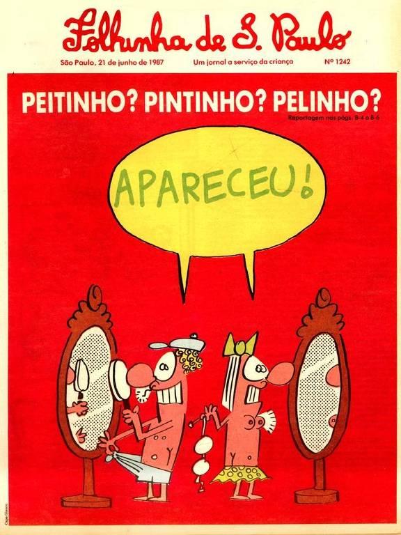 Capa da Folhinha publicada em 1987, com reportagem sobre sexualidade