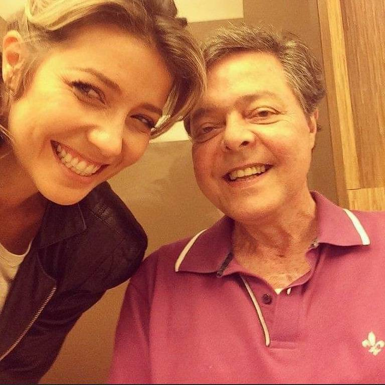 Luiza Possi com o pai Líber Gadelha
