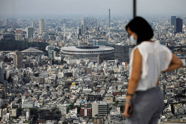 O Estádio Nacional, o principal da Olimpíada de Tóquio