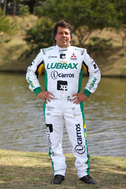 Piloto Guilherme Spinelli, o Guiga, 48, pentacampeão do Rally dos Sertões e um dos maiores nomes da história do automobilismo brasileiro