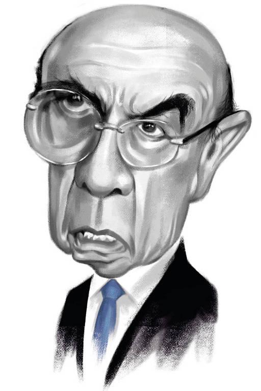 Redes sociais Caricatura Henrique Meirelles