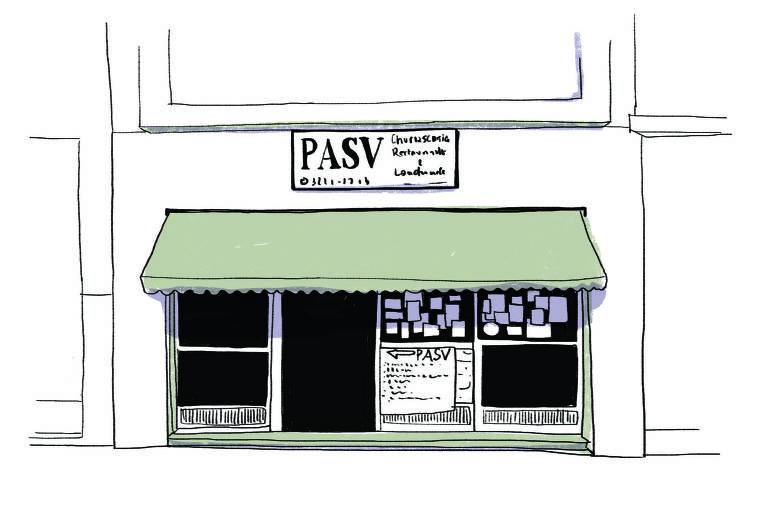 ilustração da fachada do Pasv