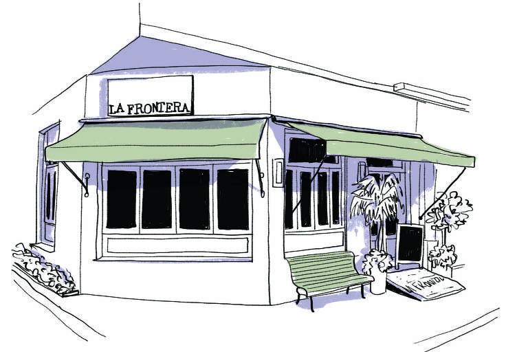 Ilustração da fachada do restaurante La Frontera