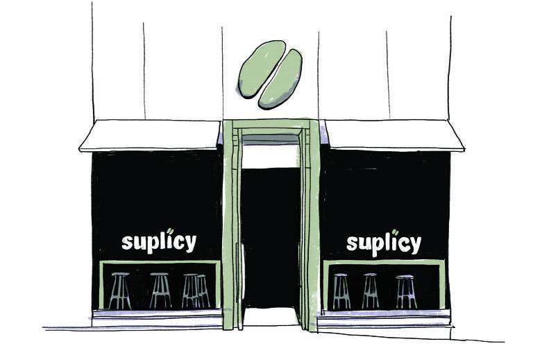 Ilustração da fachada do Suplicy