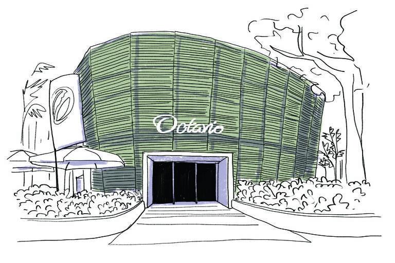 Ilustração da fachada do Octávio Café
