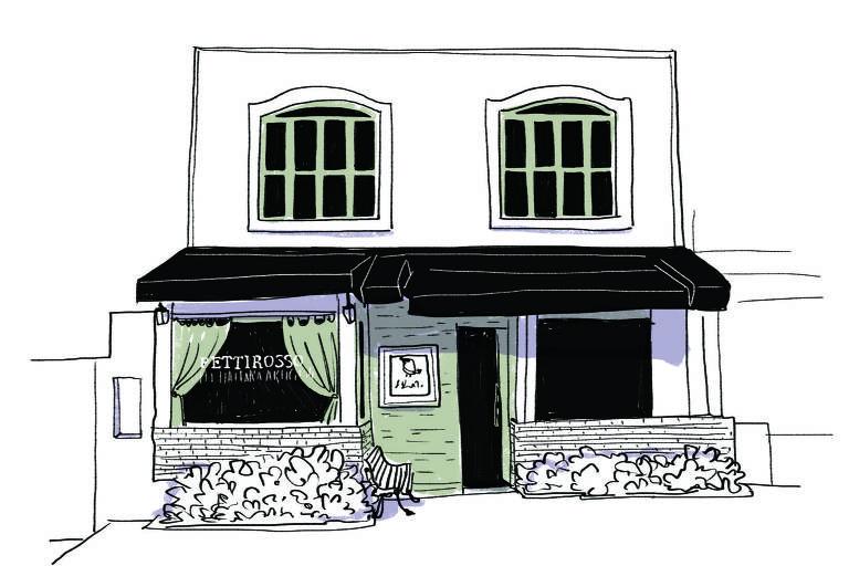 Ilustração da fachada do Petirosso