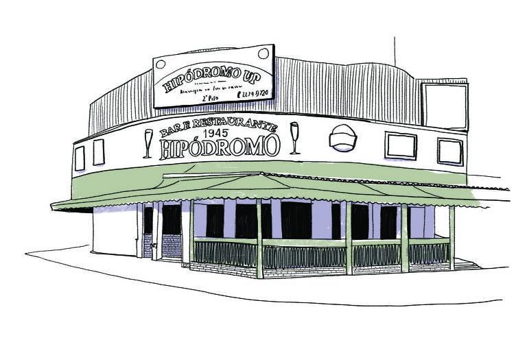 Ilustração da fachada do Hipódromo