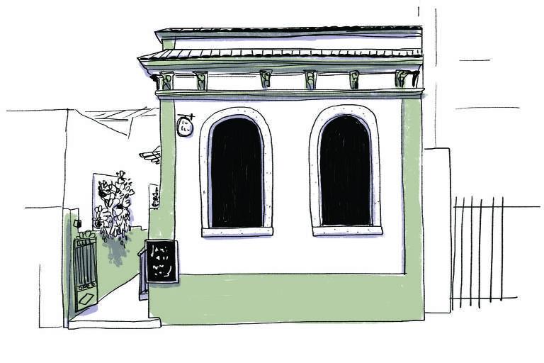 Ilustração da fachada do Carandaí