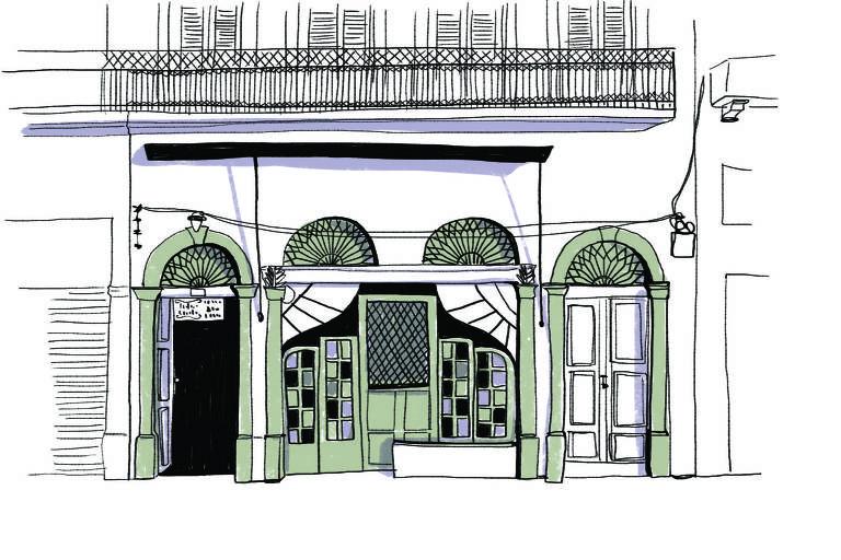 Ilustração da fachada do Trapiche Gamboa