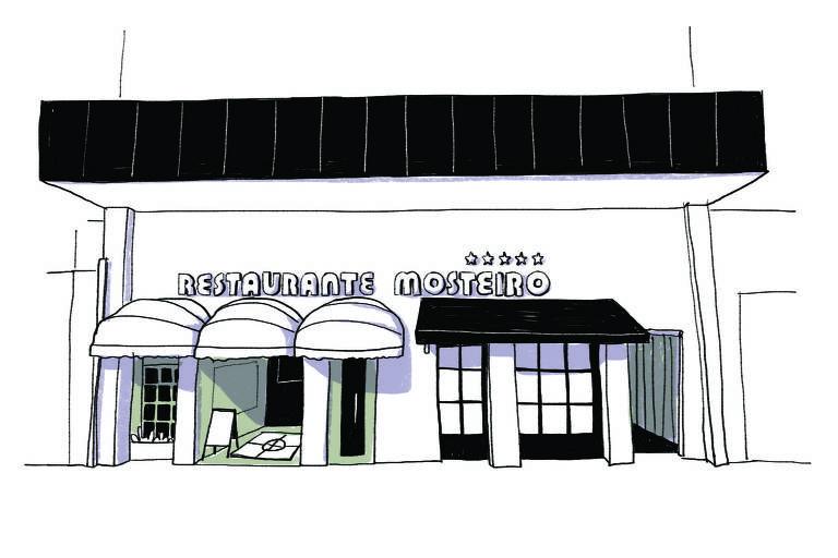 Ilustração da fachada do restaurante Mosteiro
