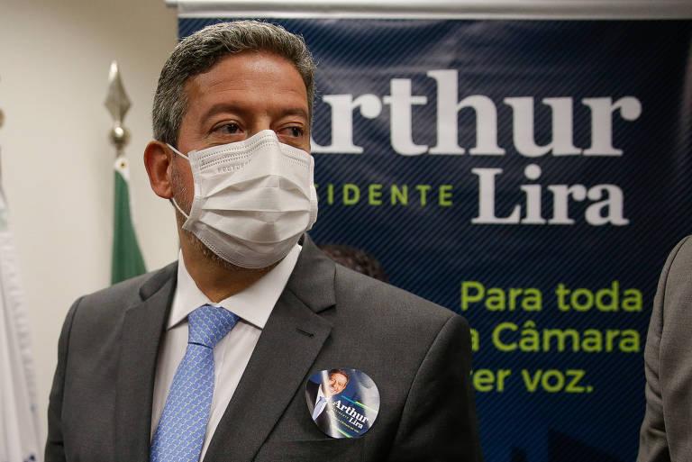 O deputado Arthur Lira (PP-AL), candidato à presidência da Câmara