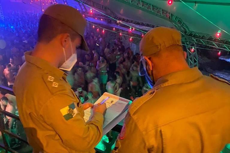 Bombeiros interditam festa no Faro Beach Club, na zona sul do Rio