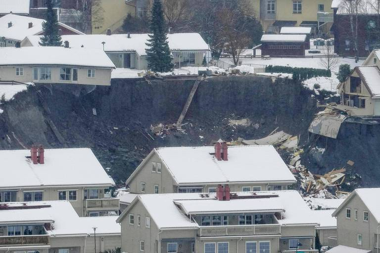 Deslizamento de terra deixa dez pessoas desaparecidas na Noruega