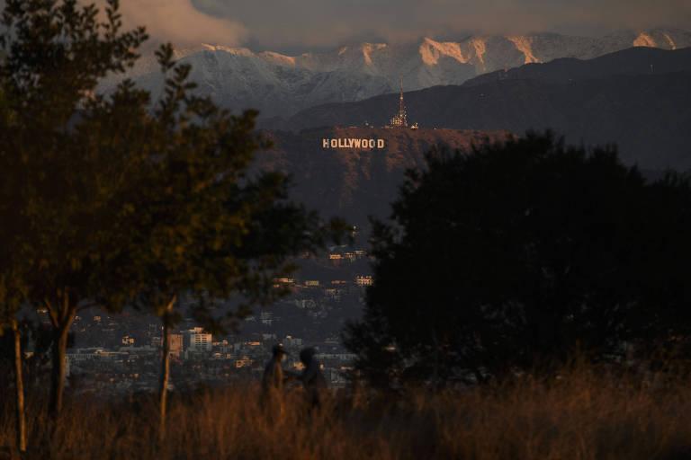 Letreiro de Hollywood em Los Angeles, Califórnia