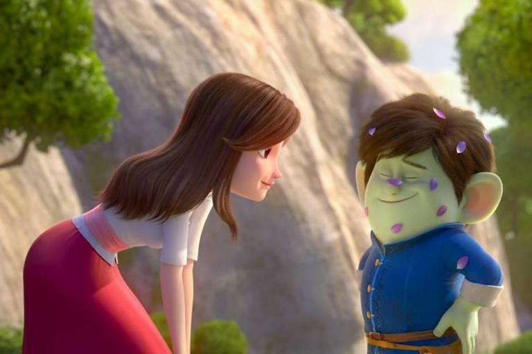 Cena da animação 'Sapatinho Vermelho e os Sete Anões'