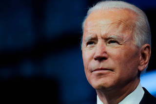 FILE PHOTO: U.S. President-elect Joe Biden delivers a televised address to the nation in Wilmington