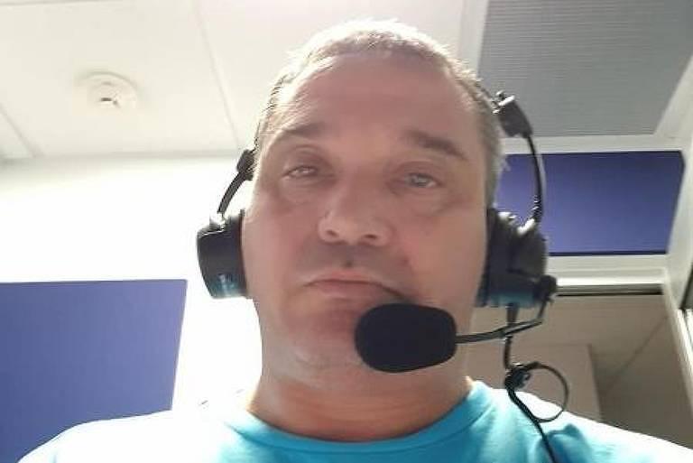 O narrador e comentarista do DAZN Gustavo Roman, morto aos 45 anos por Covid-19