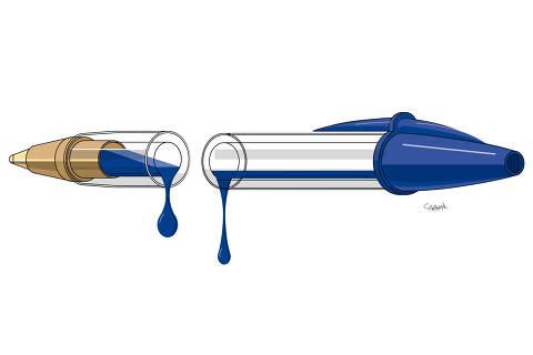 Ilustração de Carvall para coluna da Ombudsman de 3.jan.2021
