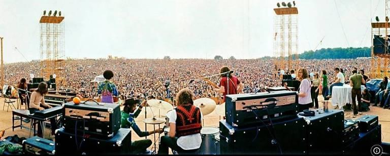 """Cena do filme """"Três dias em Woodstock"""""""