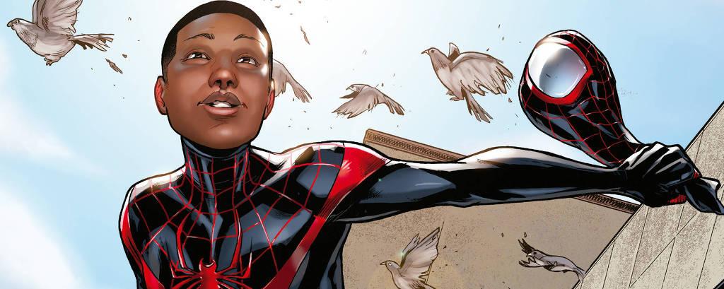 Miles Morales, o Homem-Aranha latino e negro criado por Brian Michael Bendis