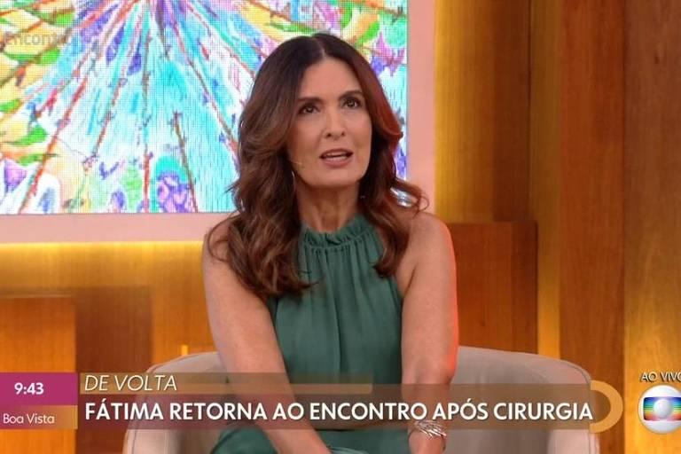 Fátima Bernardes retorna ao Encontro
